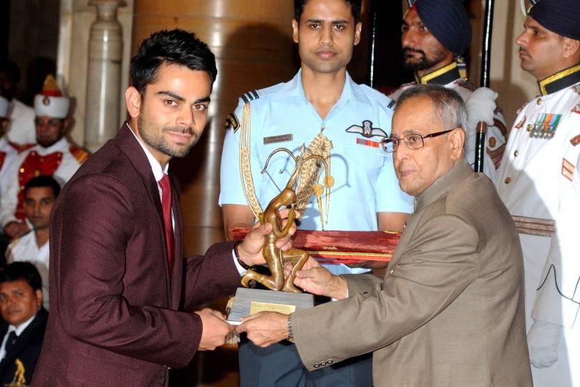 virat receives arjun award