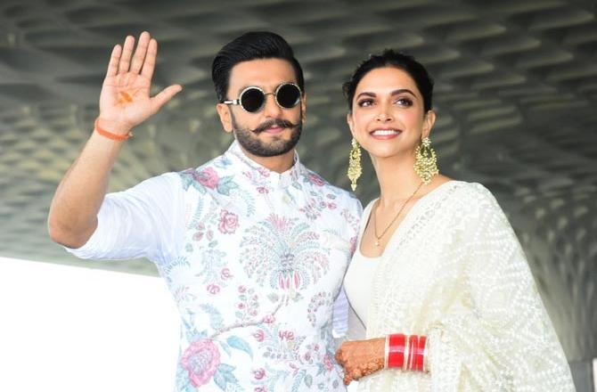 deepika with her husband