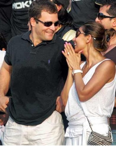 rahul gandhi with his girlfriendrahul gandhi with his girlfriend