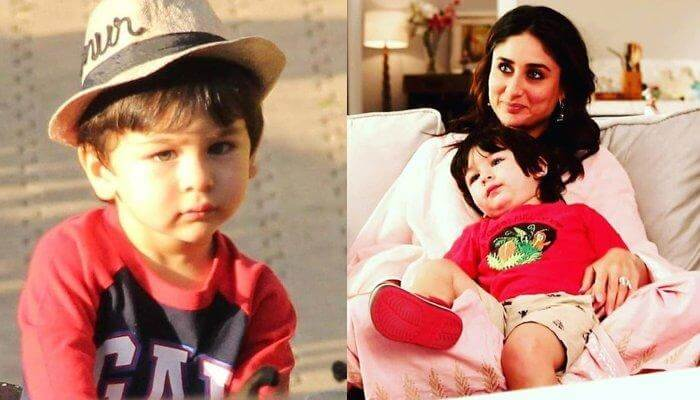 Taimur ali khan with his mom