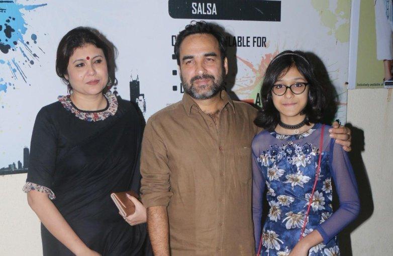 Pankaj Tripathi with his wife and daughter
