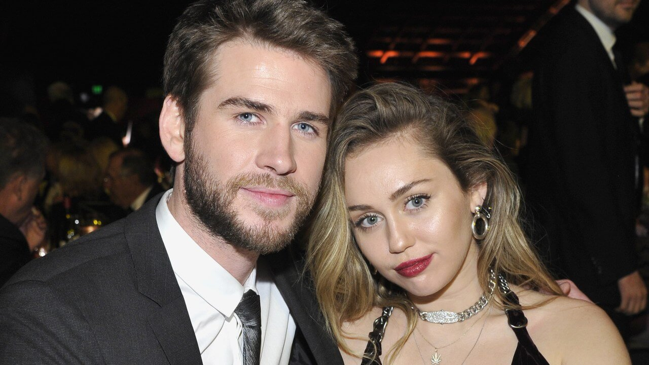 Miley with husband
