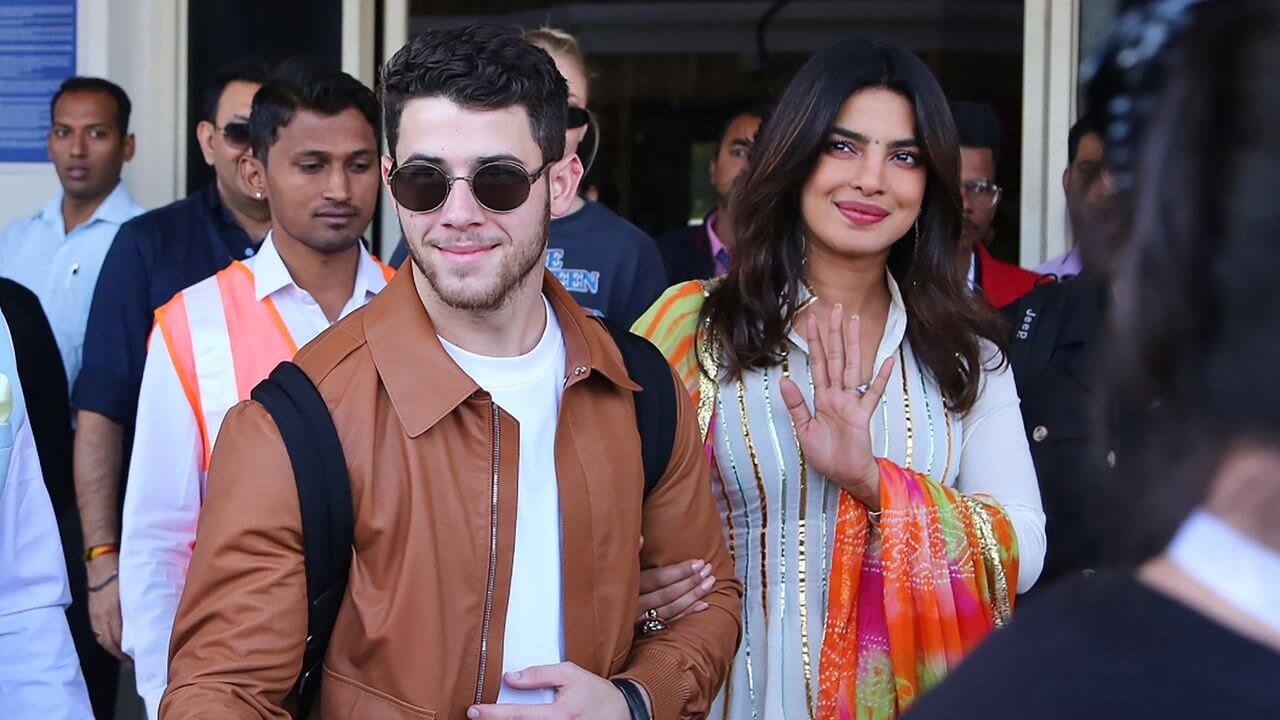 Nick jonas With Priyanka Chopra