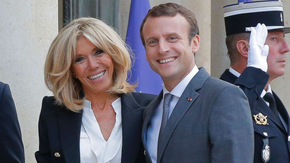 Emmanuel Macron with Wife