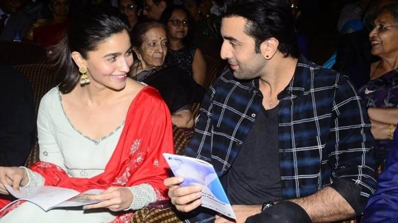 Ranbir Kapoor with Alia Bhatt