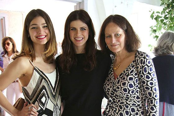 Alexandra with her family
