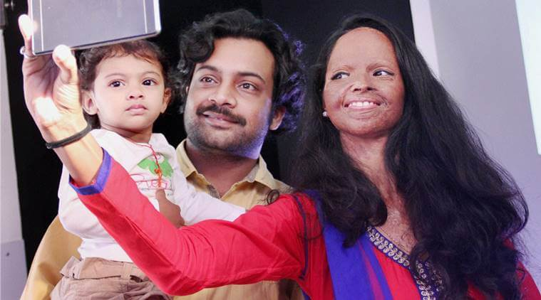 Laxmi With her Family